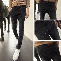 free shipping men plus size jeans   harem pants men skinny jeans  hanging crotch pants big crotch pants