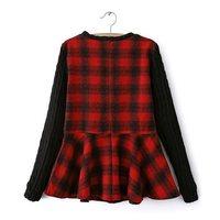 14 new women's spring explosion models Korean style long-sleeved plaid shirt women blouse shirt big swing sy-2434