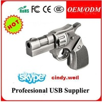 4GB/8GB/16GB/32GB New gift Metal Revolver Gun Model USB 2.0 Flash Memory Stick Pen Drive