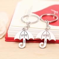 Lovers umbrella keychain key ring gift novelty loge