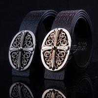 Vintage Fashion men decorate belt Vintage sliver buckle Metal hollowed buckle men's genuine leather waist wide belt