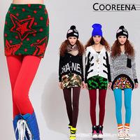 2014 Spring Autumn Winter Women's Super Elastic Wool Skirts Short Half Body Wrap Skirts for Women 10 Patterns 101