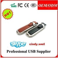 4GB/8GB/16GB/32GB black color Leather USB Flash Drive USB2.0 Memory Stick Jump Pen Drive