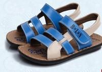 Children shoes 2014 boys sandals genuine leather male child sandals shoes size 26-37