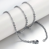 Hot sale new titanium steel couple with single-stranded necklace GL62(thick 0.6mm length 50cm)