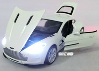 New 1:32 Car model for AstonMartin One-77,Mini Car Classic Alloy casing concept  toy  sound and light open door