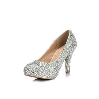 2014 New Spring Women Sexy High Heels Pointed Toe Rhinestone Pumps Free Shipping Thin Heel Women Shoes