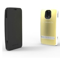 3200mAh Fashion with Stand Luxury Stype i9600 Emergency Power Charger for Samsung Galaxy S5 Battery Case