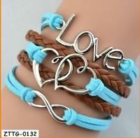 Build You Own Silver Alloy Charm Bracelet Heart Infinity Trendy Women  Jewelry wholesale