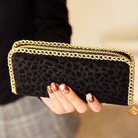Free Shipping! New Fashion Women leopard print Wallet New style stuffed women's wallet day Clutch purese