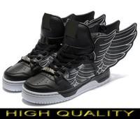 Free shipping Man & Women Jeremy Scott Wings 2.0 Shoes Black-white jeremy scott wings sneakers Black-white js wings shoes AD05