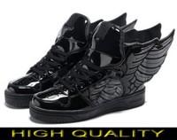 Free shipping Man & Women Jeremy Scott Wings 2.0 Shoes Black jeremy scott wings sneakers Black js wings shoes AD04