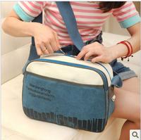 Free Shipping Canvas bag travel bag  fashion women's messenger bag shoulder bag