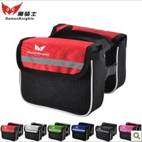New Mountain Bike Saddle Bag Bicycle Front Tube Bag Pouch Cycling Frame Pannier 2 Sides Pack Bicycle Accessories