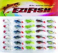 Lead lure bag lead fish soft bait hook 30 set raw material