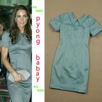 Kate middleton kate ol slim short-sleeve elegant one-piece dress