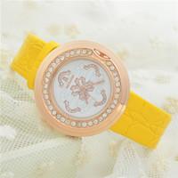 Hot Market! Special Supply Wholesale Fashion Pattern Rhinestone Studded Leather Quartz Watches Women