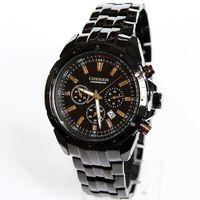 Fashion Men Business Casual Quartz Watch Waterproof 1 ATM Calendar Men's Luxury Brand Stainless Steel Wristwatch