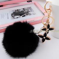 Winter hot-selling lucky grass big rabbit fur ball bags   keychain c