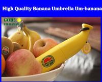Free shipping High Quality Banana Umbrella Um-banana ( Yellow / Green ) Novelty Umbrella