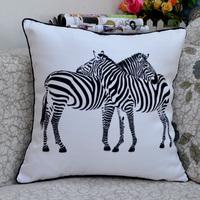 Zebra Printed Cushion Comfortable Car Covers Ikea Decorative Pillows Soft Pillow Lumbar Free Shipping (Not Include Pillow) 3019