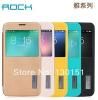 ROCK Brand Window View Smart Cover pu Leather Case For Samsung Galaxy S5, retail box, 12pcs/lot DHL Free shipping