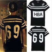 HOOD BY AIR HBA 69 2014 summer brand men's short sleeve shirt fashion Round neck t-shirt cotton casual tshirt hiphop tshirt  125