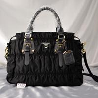 Classic pleated waterproof nylon cloth portable women's cross-body handbag oxford fabric pleated bag