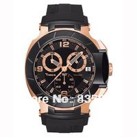 Free Shipping New Arrival 2014 mens sport Quartz Watch Chronograph stopwatch watch T-race T048.417.27.057.06 F1 WristWatch