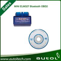 2014 Top Quality Super mini elm 327 Bluetooth OBDii / OBD2 Wireless ELM327 bluetooth With Free Shipping