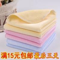A06 100% cotton baby scarf child handkerchief thickening velvet newborn baby bib towel