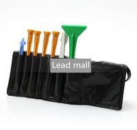 DHL free shipping 8 in 1 Screwdrivers Pry Opening Repair Tools Kit Set with Roll Leather Pouch for iPhone 4 4S  5pcs/lot