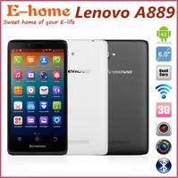 Original 6'' Lenovo A889 MTK6582 Quad Core Cellphone 1GB RAM 8GB ROM Android 4.2 Phone 8.0MP Camera WCDMA GPS Dual Sim GPS
