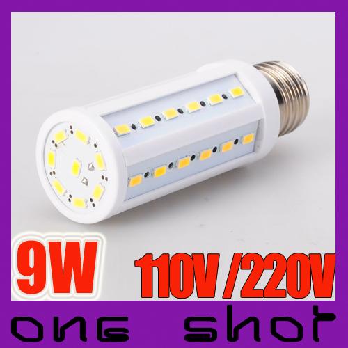 110V | 220V 9W 44 X 5730 SMD LED Bulb E27 E14 Corn Light(China (Mainland))