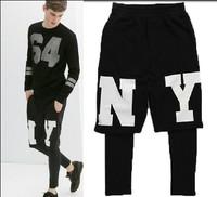 NY men's sports leisure trousers pants long pants Men's Sport Pants HipHop Designer brand Cotton Fashion Basketball Pants FS127