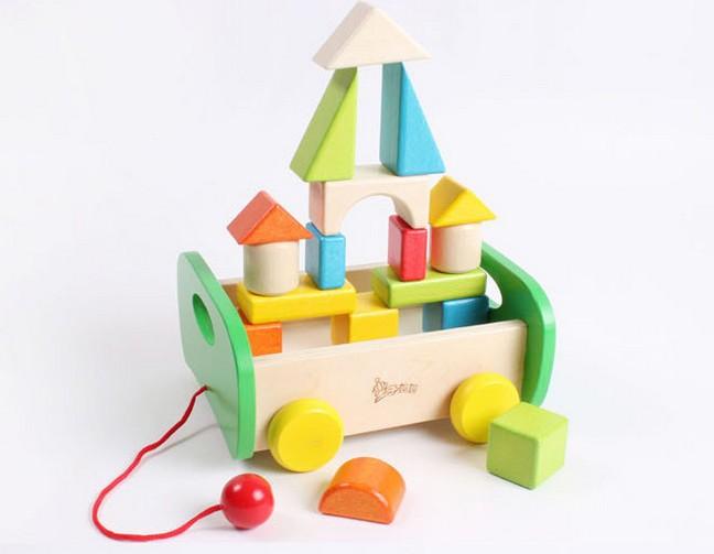 Free shipping Building blocks wooden toys children's educational blocks 17pcs/lot wooden building blocks sets kid gift HT156(China (Mainland))