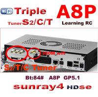 2014 free shipping new arrival sunray sr4 800se dm 800se a8p wifi digital satellite receiver sunray4 800se sr4 triple tuner wifi