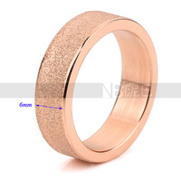 Factory price Rose gold plated stainless steel man rings fashion classic jewelry best gift