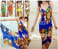 11/11 sale 2014 new women Bikini set casual dresses Deep V Wrap Chiffon Swimwear Bikini Cover Up Sarong brand sexy Beach Dress