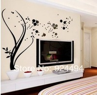 Free shipping Acrylic three-dimensional wall stickers living room sofa backdrop of large wall stickers TV backdrop decoration