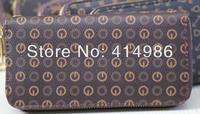 HOT  Free shipping 2014 new fashion all-match men & women classic long zipper wallets handbag 131120