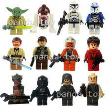 Star Wars Figures 12pcs/lot Yoda Han Solo Obi Wan Kenobi R4 P17 Building Blocks Sets Classic Toys Bricks Compatible With Lego(China (Mainland))