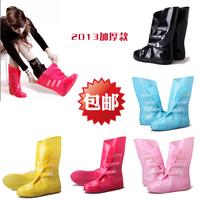 Thickening bearcat rain boots rainboots female adult slip-resistant rain shoe covers rainboots set water shoes
