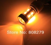 2pcs/Pair BAU15S 150 PY21W LED 12 SMD 5630 11W Car Turn Signal TAIL LIght Bulb 12V-24V Volt Amber Yellow Orange