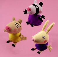 New Peppa Pig Series Peppa pig Friends Pepe Friends zoe Suzy Peppa Pig Plush Doll 3PCS/LOT