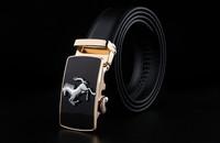 100% GENUINE Leather Men Belts, fashion strap, cowskin leather belts for men 2014 new leopard belt buckle 4 type
