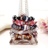 Accessories colored glaze beaded bracelet beach bracelet jewelry day gift