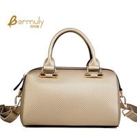 2014 women leather handbags plaid bucket handbag fashion bags handbags women famous brands messenger bag genuine leather totes