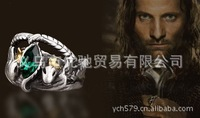 2014 New Arrival Lord of the Rings  Bahra  Aragorn Ring Crystal ring for men jewelry ancient silver plated free shipping
