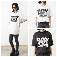Hot sale ! New 2014 fashion summer women t shirt boy london print Tees HARAJUKU t-shirst short-sleeve O-neck T-Shirt